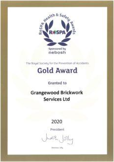 RoSPA Gold Cert 2020